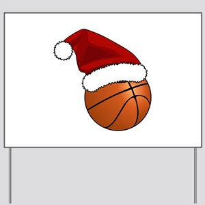 Christmas Basketball Yard Sign