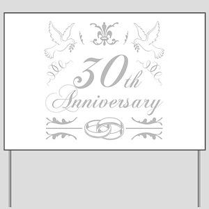 30th Wedding Anniversary Yard Sign