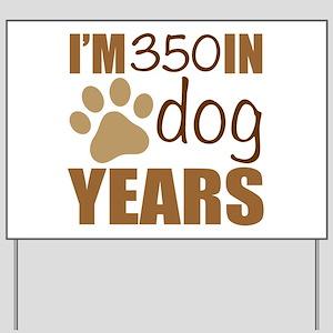 50th Birthday Dog Years Yard Sign