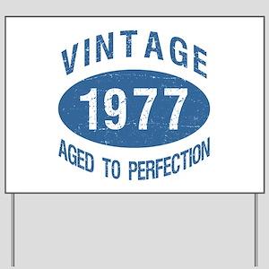 1977 Vintage Birthday Yard Sign