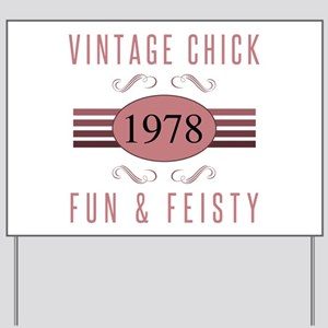 1978 Vintage Chick Yard Sign