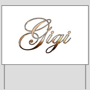 Gold Gigi Yard Sign