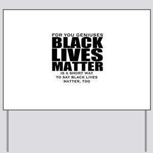 African American Yard Sign