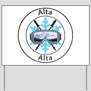 Alta - Alta - Utah Yard Sign