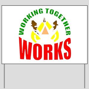 African American teamwork Yard Sign