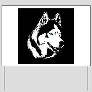 Siberian Husky / Malamute Yard Sign