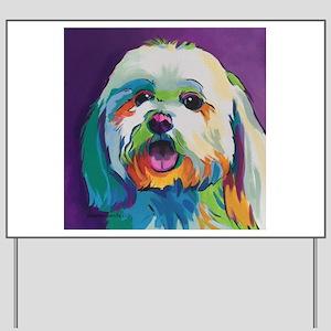 Dash the Pop Art Dog Yard Sign