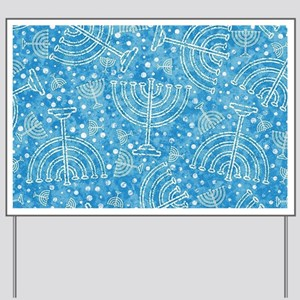 Hanukkah Menorah Pattern Yard Sign