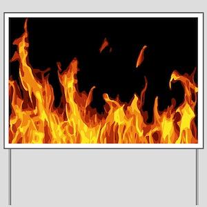 Flames Yard Sign