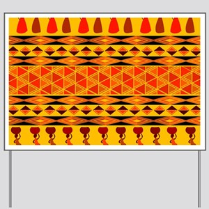 African Traditional Ornament Yard Sign