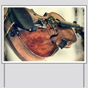 classic vintage violin Yard Sign