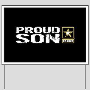 U.S. Army: Proud Son (Black) Yard Sign