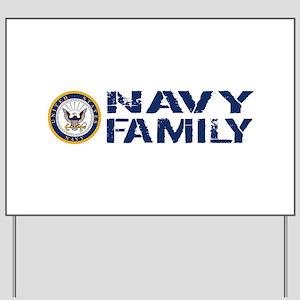 U.S. Navy: Navy Family (Blue & White) Yard Sign