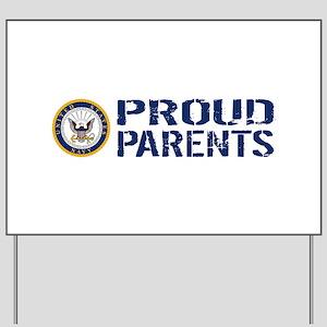 U.S. Navy: Proud Parents (Blue & White) Yard Sign