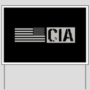 CIA: CIA (Black Flag) Yard Sign