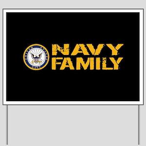 U.S. Navy: Navy Family (Black) Yard Sign