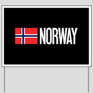 Norway: Norwegian Flag & Norway Yard Sign