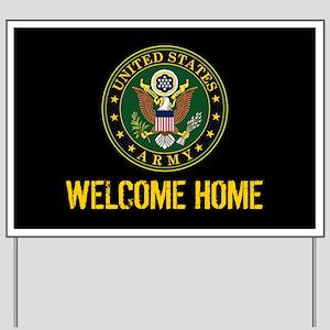 U.S. Army: Welcome Home (Black & Gold) Yard Sign