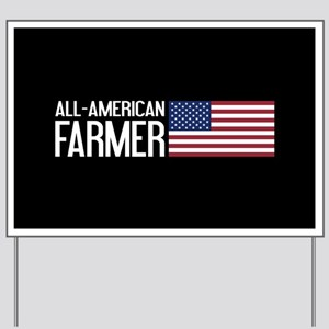 Farmer: All-American (Black) Yard Sign