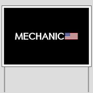 Mechanic: American Flag Yard Sign