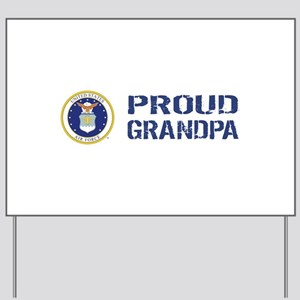 USAF: Proud Grandpa Yard Sign