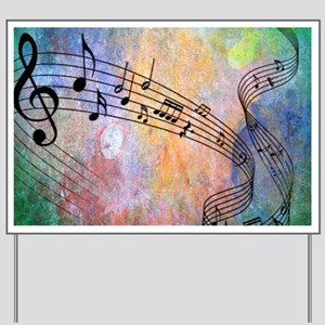 Abstract Music Yard Sign