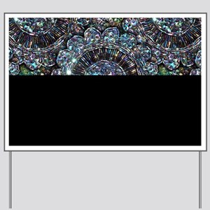 Beaded Sequin Flowers Photo Yard Sign