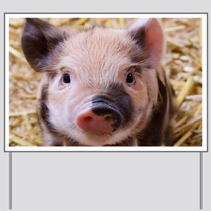 sweet little piglet 2 Yard Sign