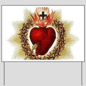 Sacred Heart Yard Sign