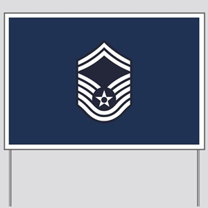 USAF: SMSgt E-8 (Blue) Yard Sign