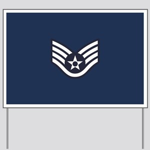 USAF: SSgt E-5 (Blue) Yard Sign