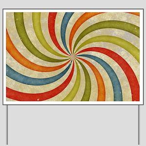 Psychedelic Retro Swirl Yard Sign