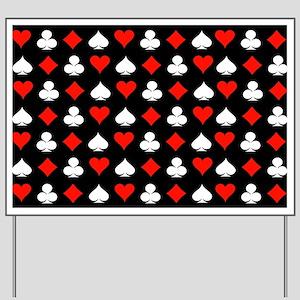 Poker Symbols Yard Sign