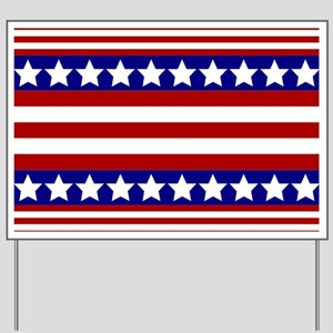 Stars and Stripes Yard Sign