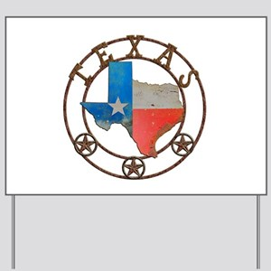 Texas Wrought Iron Barn Art Yard Sign