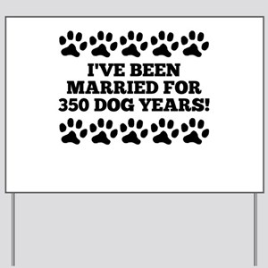 50th Anniversary Dog Years Yard Sign
