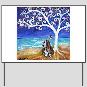 Basset Hound Spiritual Tree Yard Sign