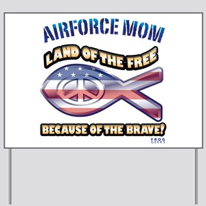 Airforce Mom Yard Sign