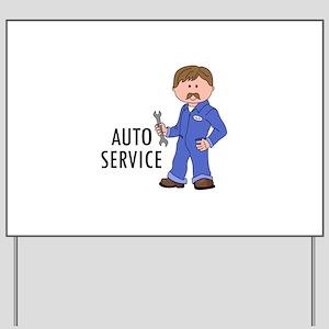 AUTO SERVICE Yard Sign