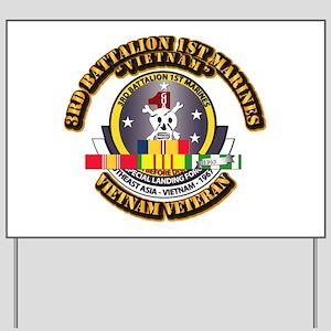 SSI - 3rd Bn - 1st Marines w VN SVC Ribbon Yard Si