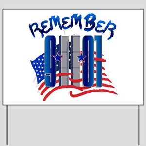 Remember 9/11 - Twin Towers Yard Sign