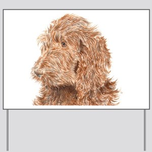 Chocolate Labradoodle 5 Yard Sign
