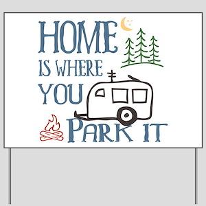 Camper Home Yard Sign