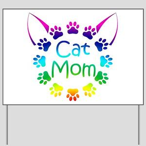 """Cat Mom"" Yard Sign"