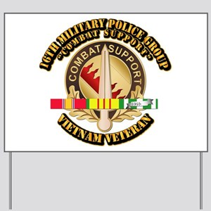 16th Military Police Group w SVC Ribbon Yard Sign