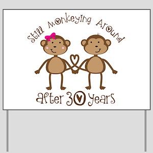 50th Anniversary Love Monkeys Yard Sign