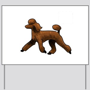 red poodle Yard Sign