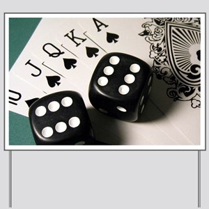 Cards And Dice Yard Sign