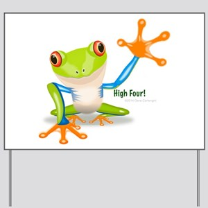Freddie Frog Yard Sign