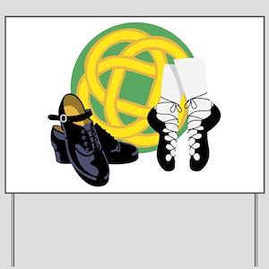Celtic Knot Irish Shoes Yard Sign